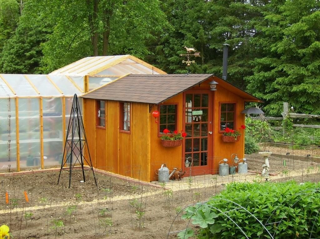 go green with a garden shed greenhouse