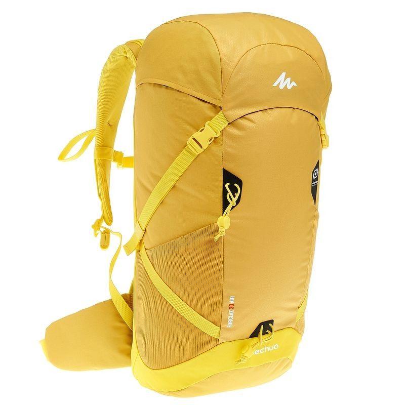 Sac à dos FORCLAZ 30 AIR jaune: Label AIR COOLING,régule la transpiration  du dos QUECHUA