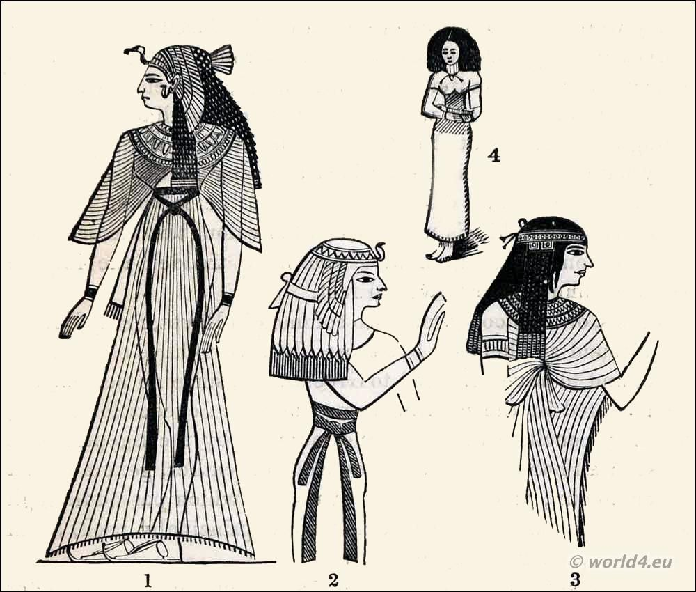 Ancient Egyptian Costumes. Has some decent styles and how the ...