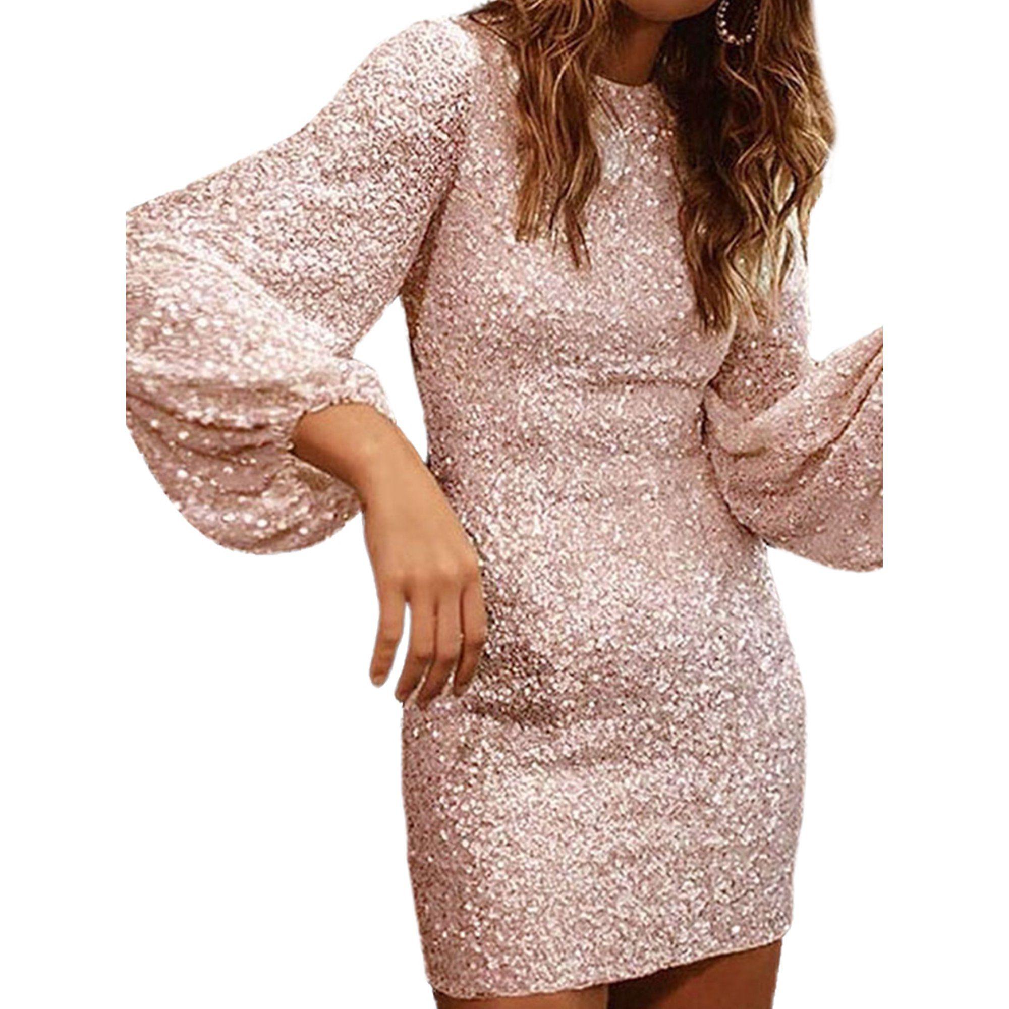 Lallc Women S Sequins Bodycon Long Sleeve Evening Party Cocktail Prom Mini Dress Walmart Com In 2021 Women S A Line Dresses Short Mini Dress White Mini Dress [ 2000 x 2000 Pixel ]