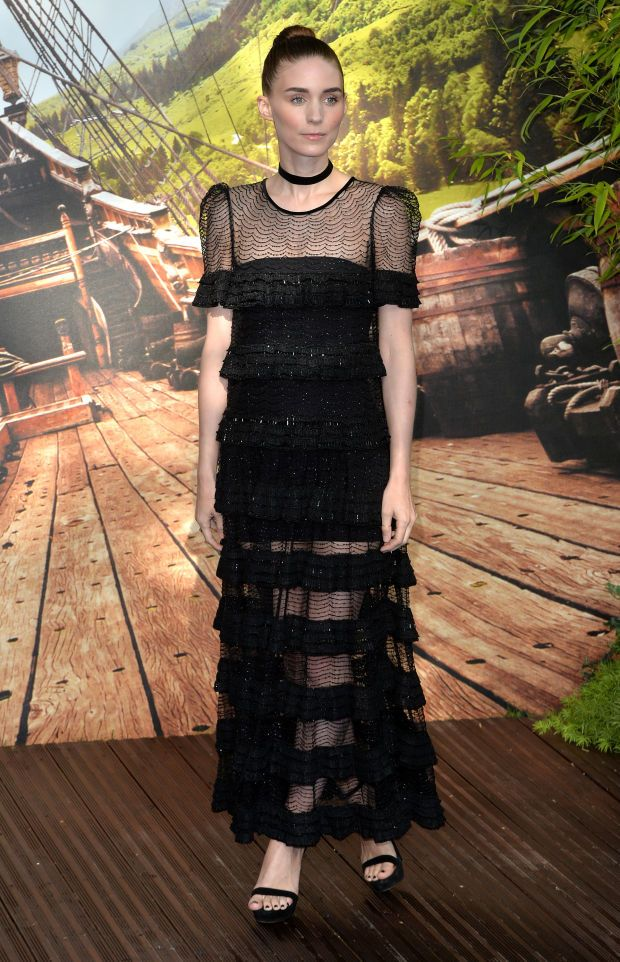 """Rooney Mara in Givenchy Haute Couture at the world premiere of """"Pan"""" in London on Sunday."""