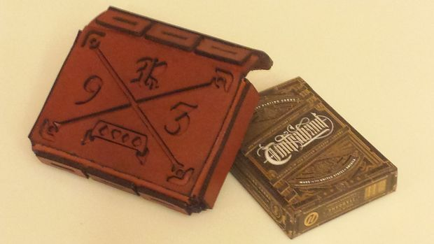 DIY Leather Playing Card Pouch