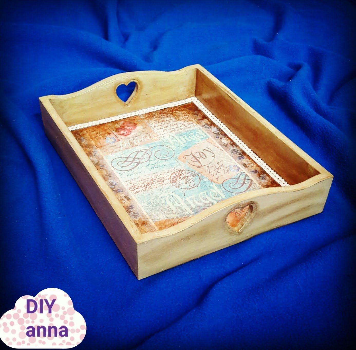 Decoupage Tray With Rice Paper Diy Shabby Chic Ideas