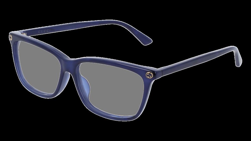 4c3b9450c2 Gucci - GG0042OA-004 Blue Eyeglasses   Demo Lenses