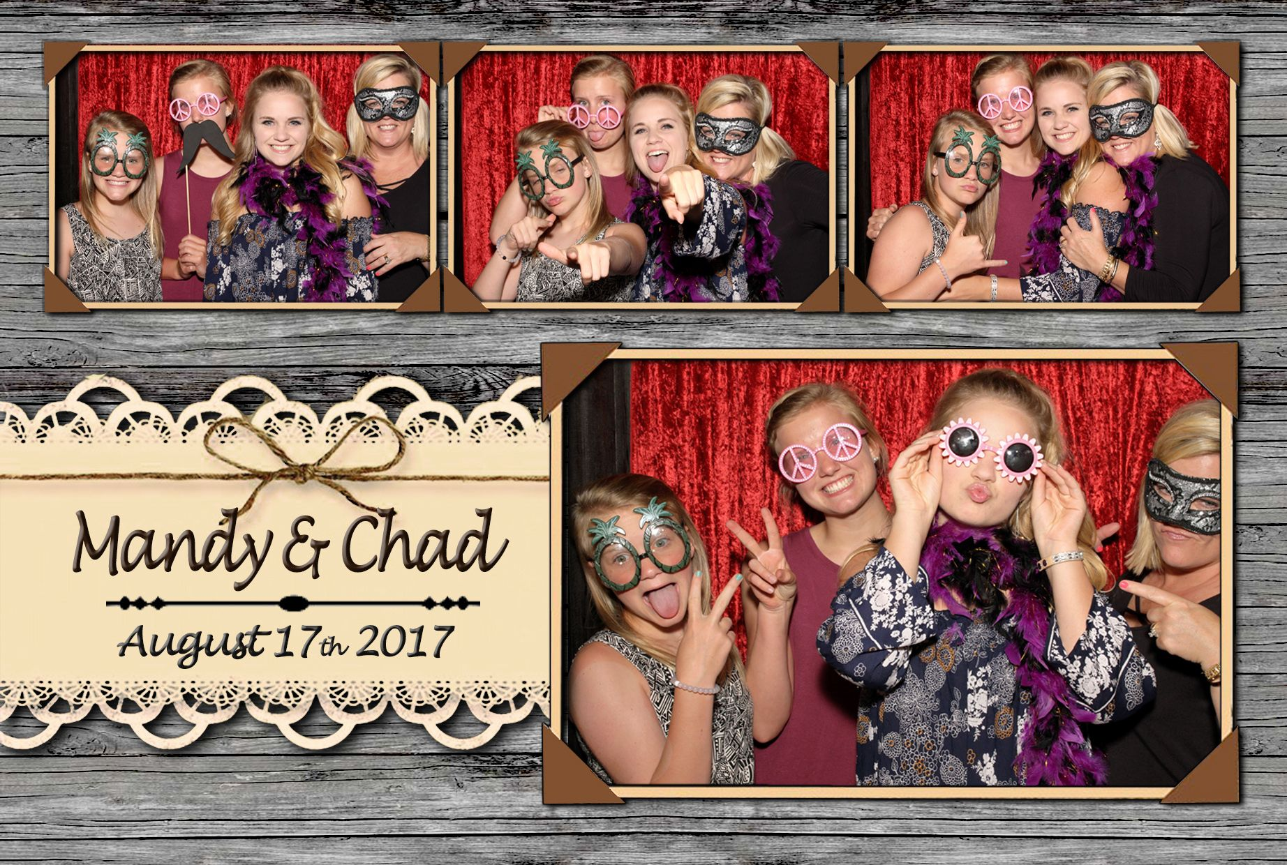 Vintage Rustic Country Wedding Or Event Photo Booth Template