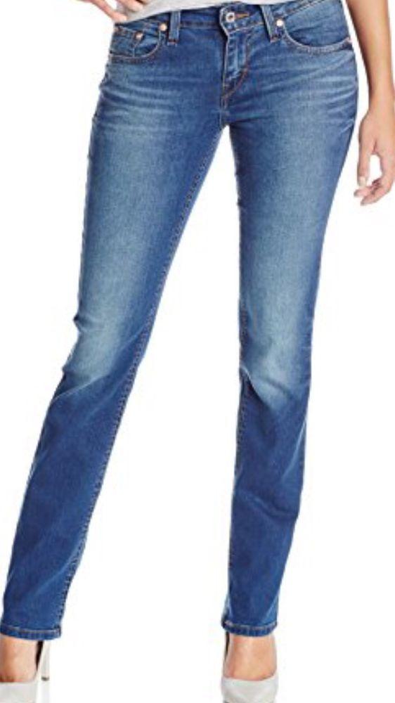 aa6fa9fe039e Levi's 529 Curvy Skinny Jeans Mid Rise Women's Stretch Size 8 x 32 New |  eBay