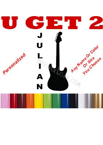 ELECTRIC GUITAR Personalized BAND Music Custom Musical Decal - Guitar custom vinyl stickers