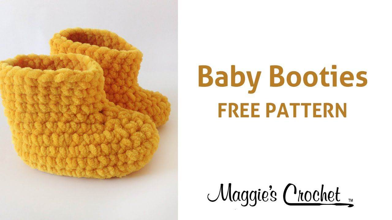Parfait Baby Booties Free Crochet Pattern - Right Handed - YouTube ...
