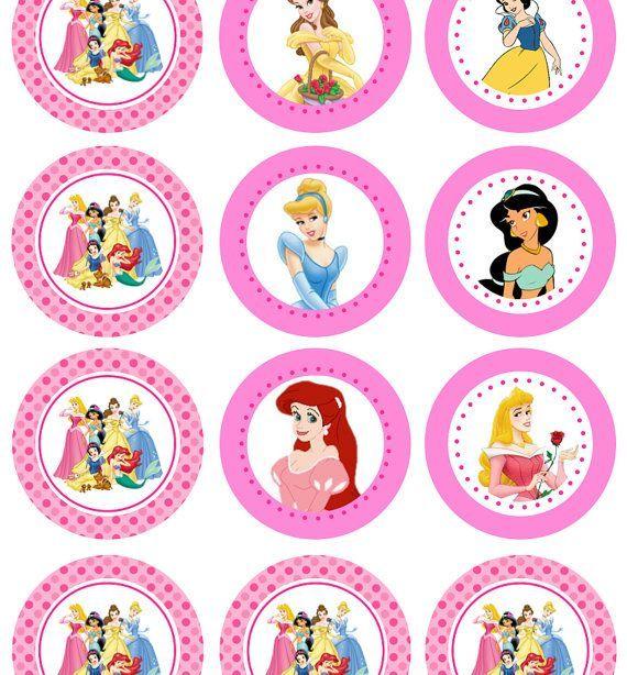 Disney Princess Cutouts Printables Birthday cakes 2018 Galletas