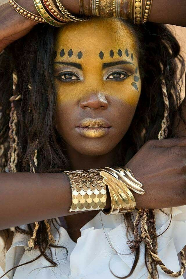 AFrican queens Tribal face paints, Tribal face, Tribal