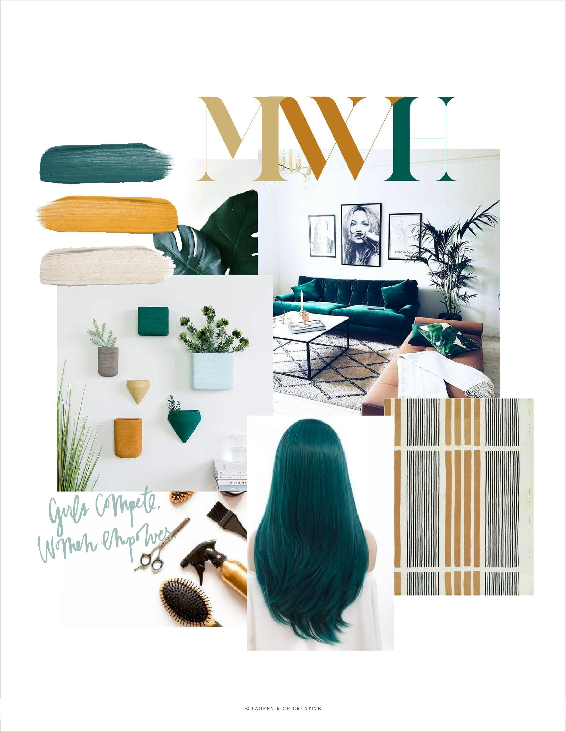 Melanie Walker Hair Studio Mood Board Hair Stylist Logo Hairstylist Business Cards Mood Board