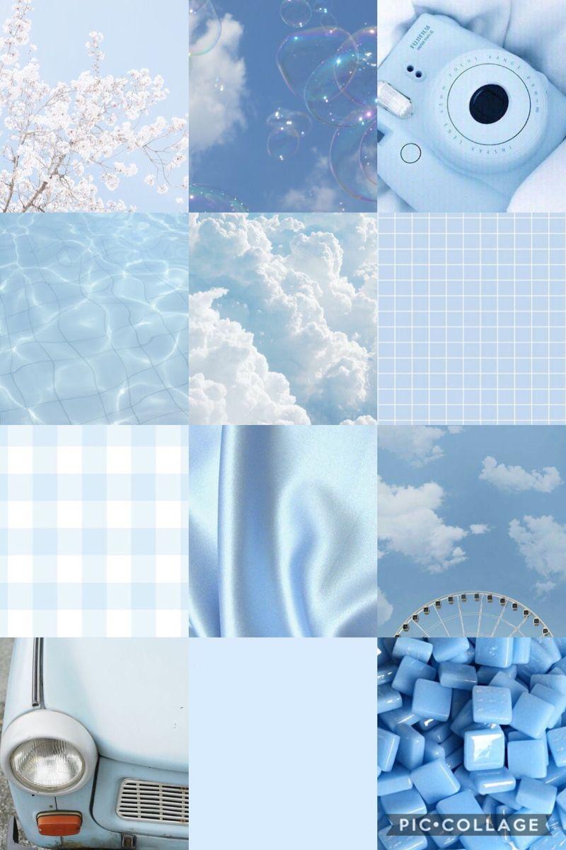 Aesthetic baby blue wallpaper ipad