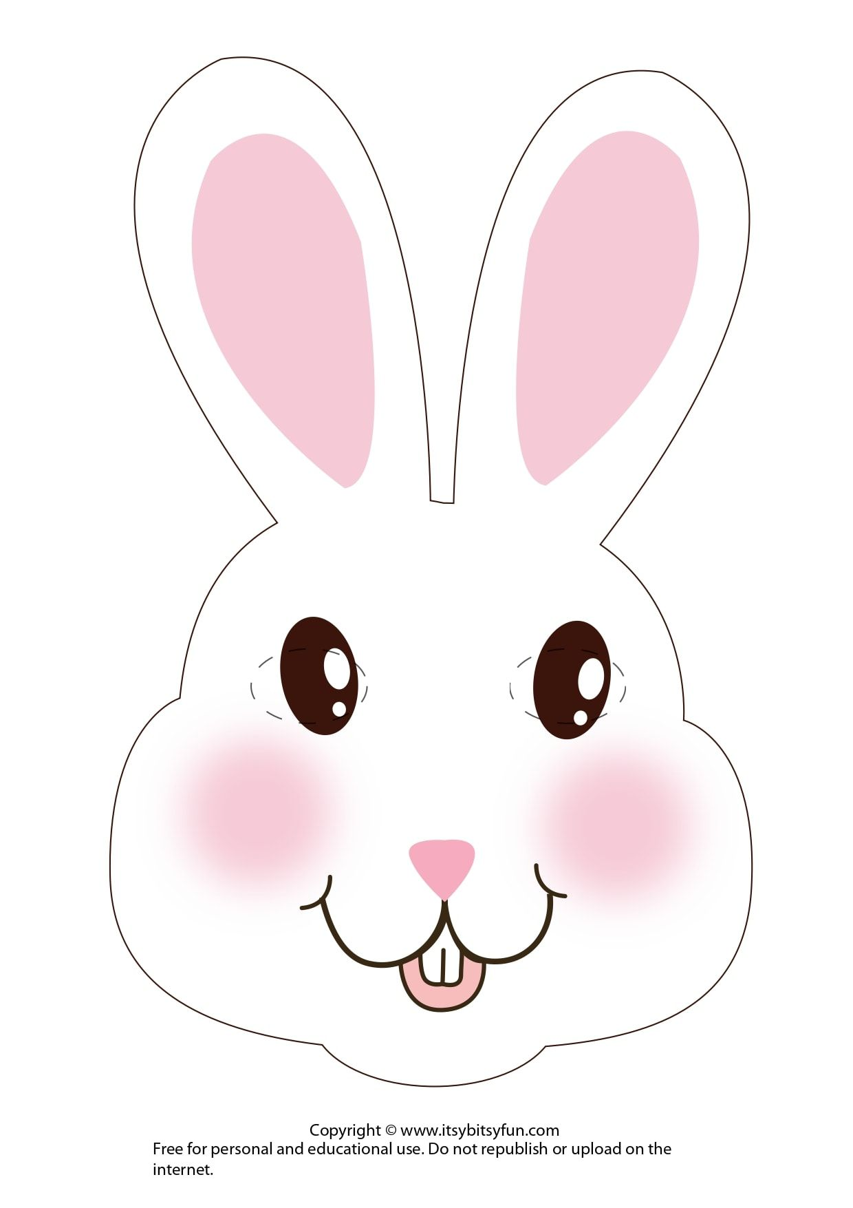 This is a picture of Printable Bunny Mask intended for clipart