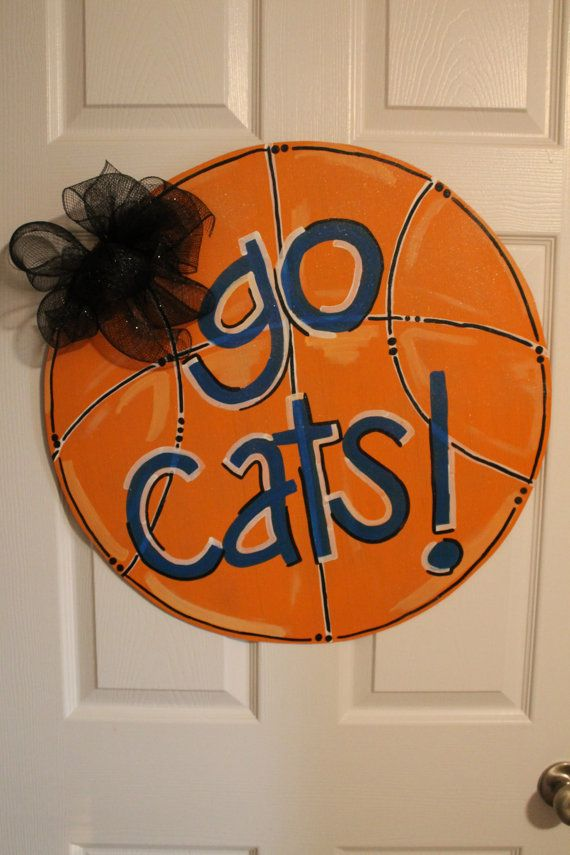 Custom Basketball Door Hanger Kentucky Wildcats by YoungLoveDecor $35.00 : basketball door - Pezcame.Com
