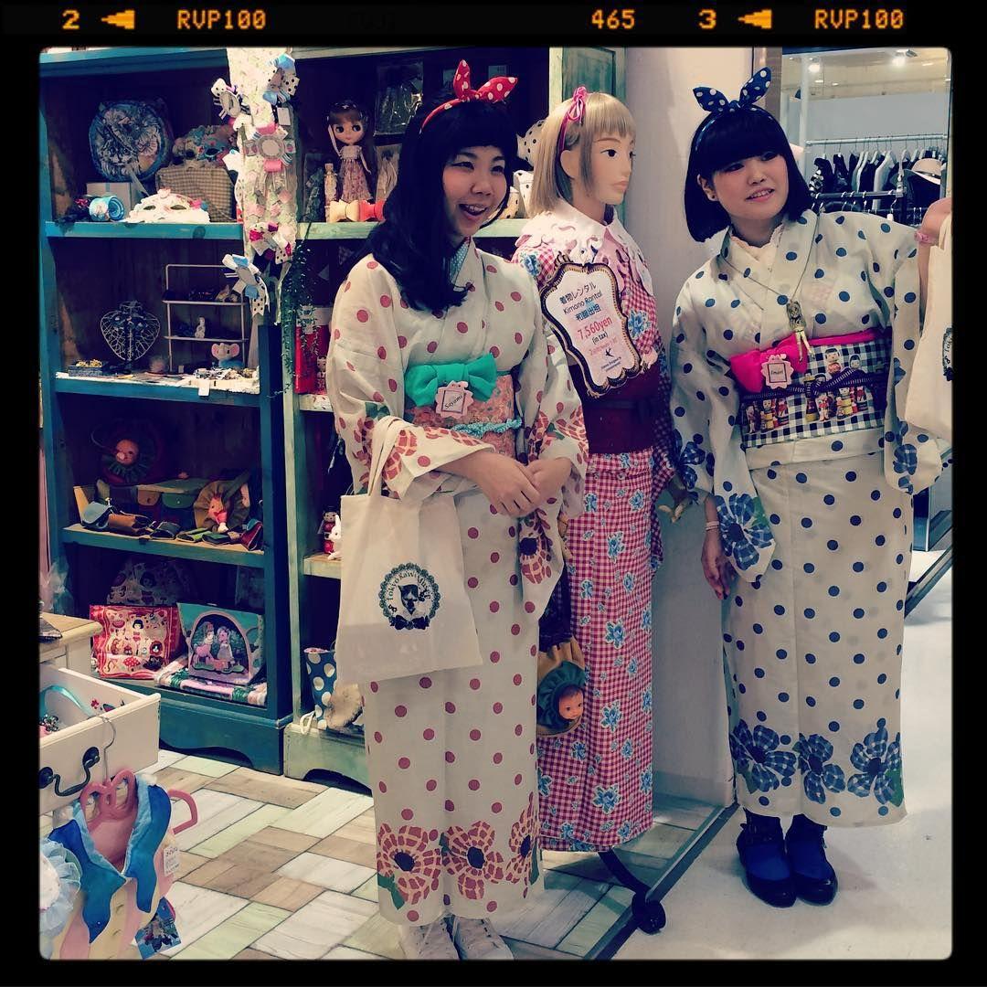 """""""【ラフォーレ】 TOKYO KAWAII MUSEE かわいい! いってらっしゃ〜い! #kimono #キモノ #着物 #きもの #yumi_kimono #yamamotoyumi #やまもとゆみ #kawaii #tokyokawaiimusee"""""""