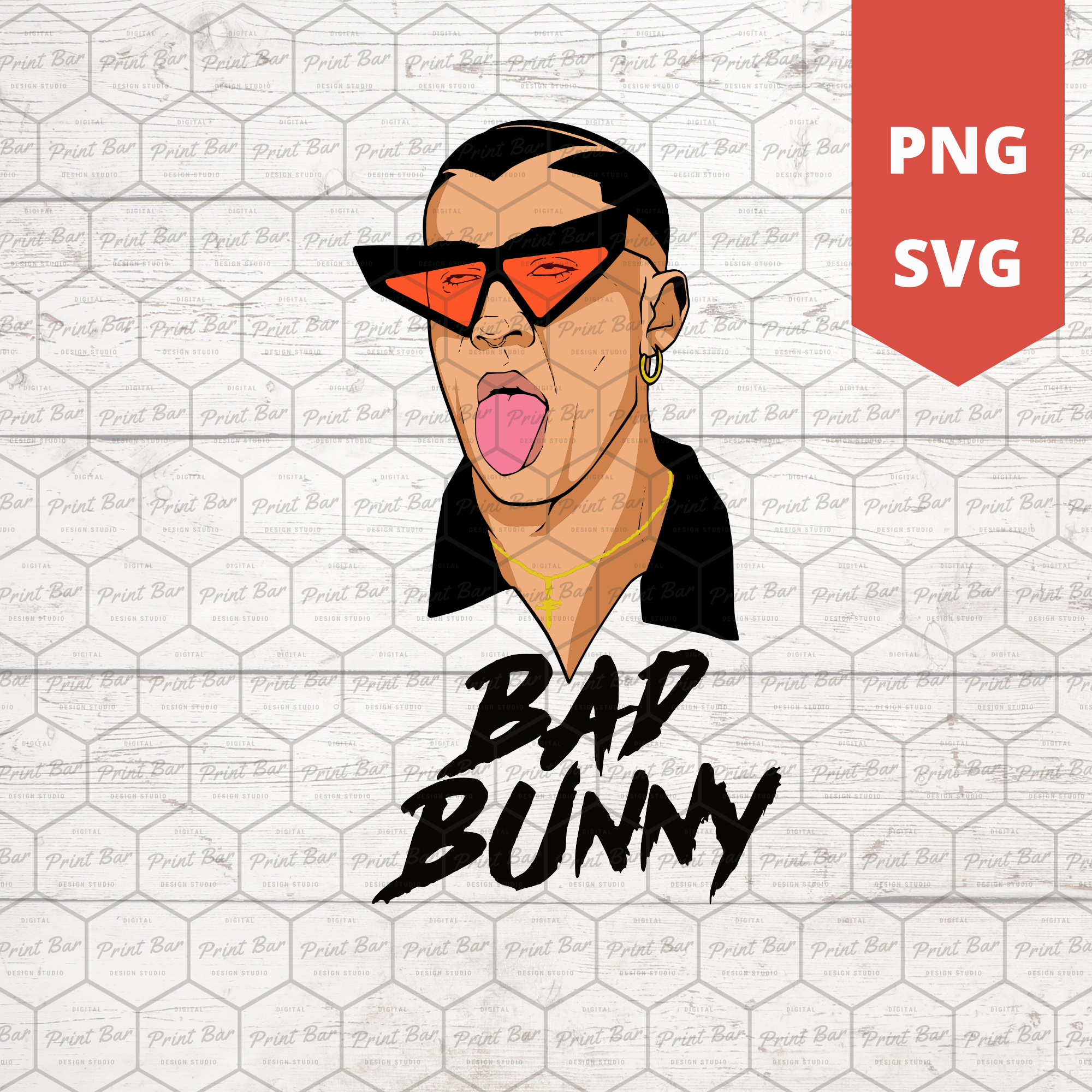 Pin On Bad Bunny Svg Cut Files