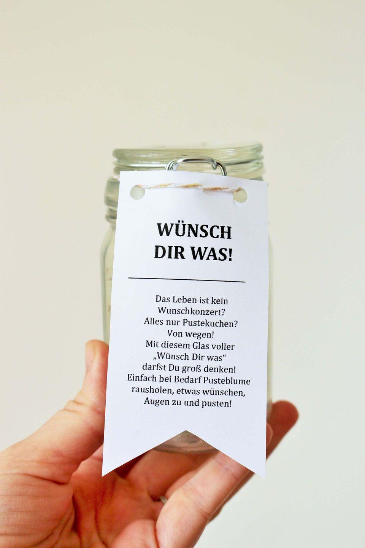 DIY Geschenk Idee mit Pusteblumen Wünsch Dir Was