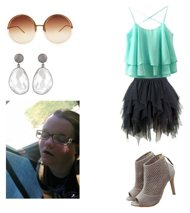 """lazy day"" by alyssa-moulder on Polyvore featuring Linda Farrow and WithChic"