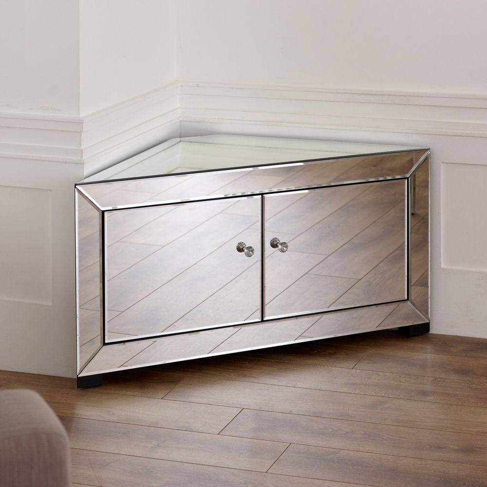 Amazing Venetian Mirrored Corner TV Cabinet £299