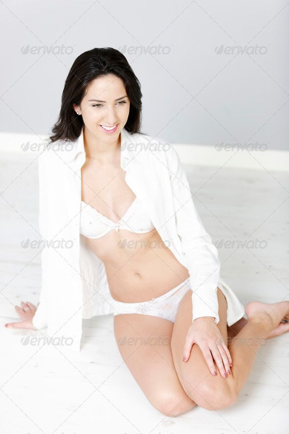 a7cd476e2703 Woman sitting in underwear ... adult, attractive, beautiful, beauty, body