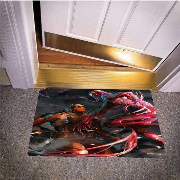 DEADPOOL VS SPIDERMAN BEDROOM CARPET BATH OR DOORMATS