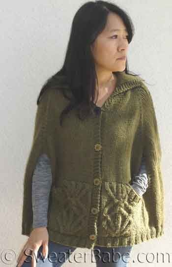 138 Covetable Cabled Cape Pdf Knitting Pattern Knitting Patterns