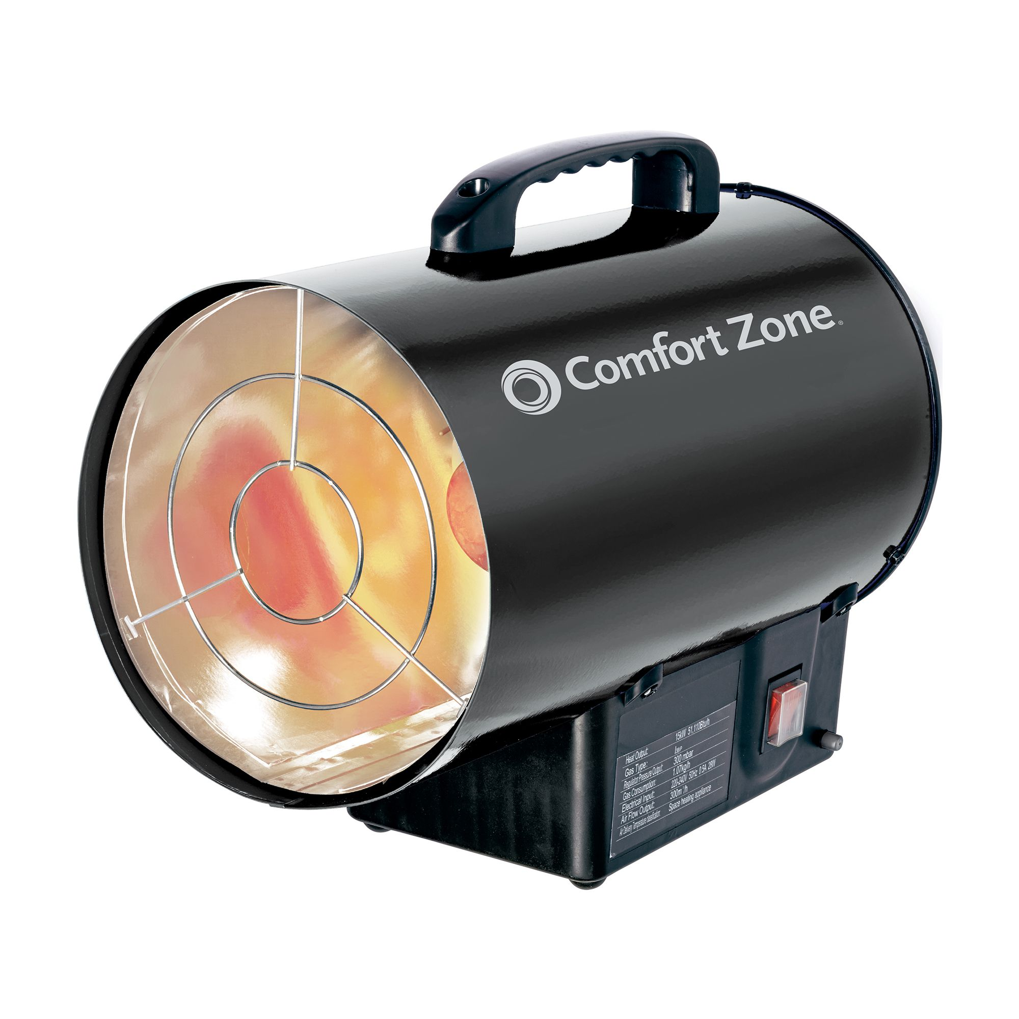 CZPP100 Radiant Propane Portable Forced Air Heater, Black