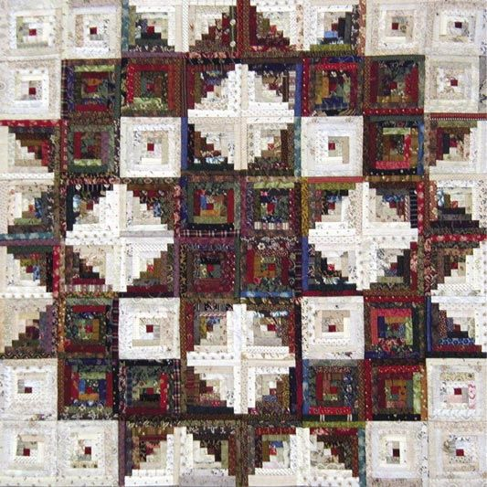 images+of+curved+log+cabin+quilts | Broken Star Quilt Pattern by Laundry Basket Quilts