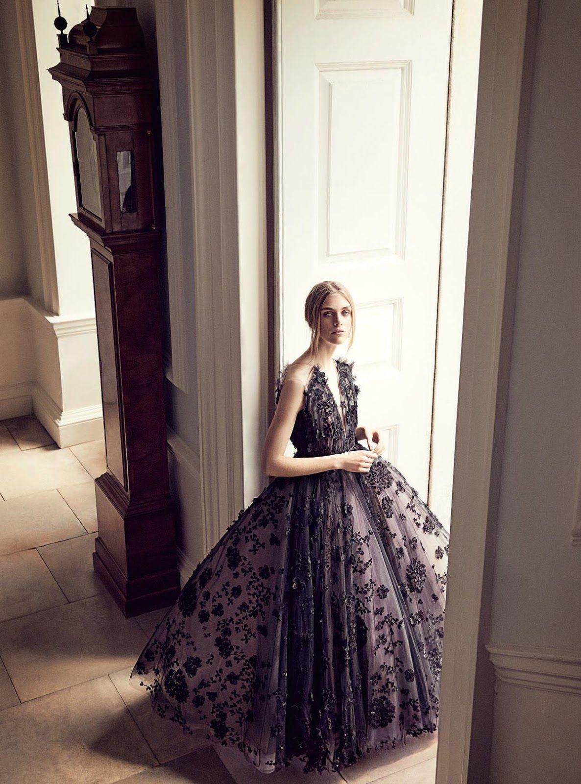 5098520028f5 Hedvig Palm Is Lensed By Richard Phibbs In  A Regency Romance  For Harper s  Bazaar UK December 2017