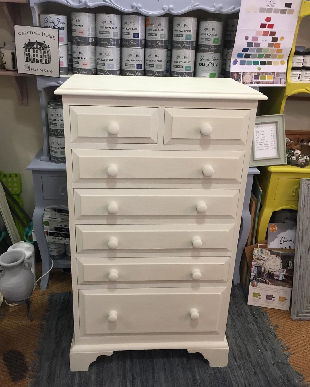 Matching Bedroom Furniture Sourced And Painted In Annie Sloan Old White Chalk Paint Anniesloanchalk Annie Sloan Old White White Chalk Paint Upcycled Furniture