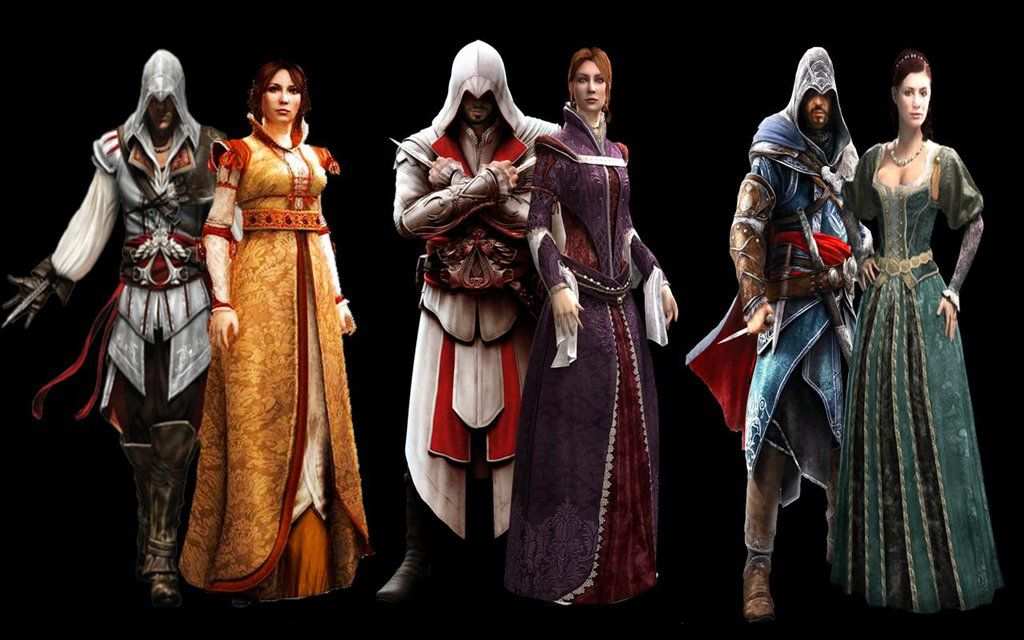 Which Ezio pairing is the best? by thereanimatedunknown.deviantart.com on @DeviantArt --- I love Ezio with Cristina, but I also was glad that he finaly found happiness with Sofia after all these yeras of hurt