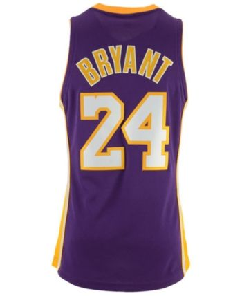 Mitchell   Ness Men s Kobe Bryant Los Angeles Lakers Authentic Jersey -  Purple XXL deeca7995
