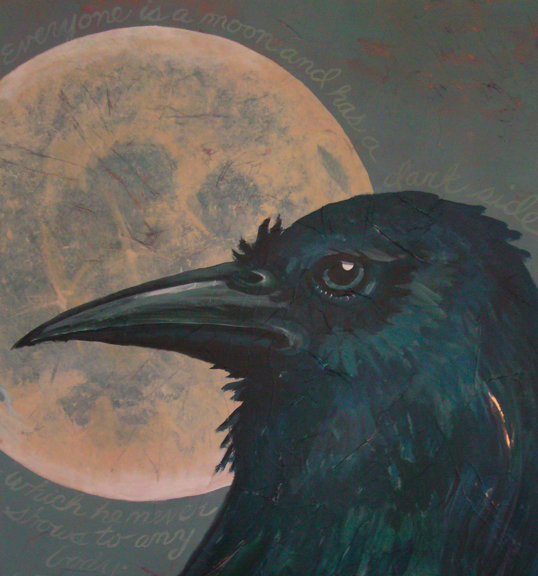 In folklore, the Raven and Crow of the Celts often represented the darker aspects of life, but could be somewhat of a guardian angel as well.