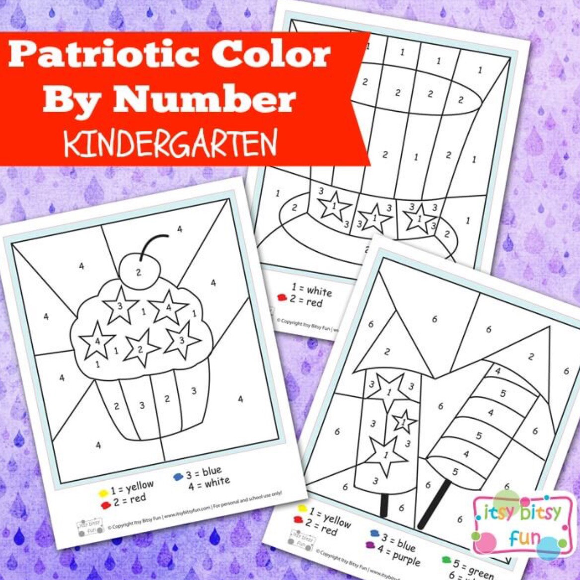 Color By Numbers Worksheet Round Up