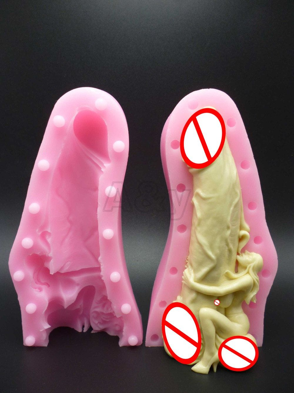 1pcs 3d Sexy Woman Hold Penis Shaped Silicone Cake Mould Dick Soap Mold Fondant Cake Decoration Birthday Cake By Msdiysupplies On Etsy