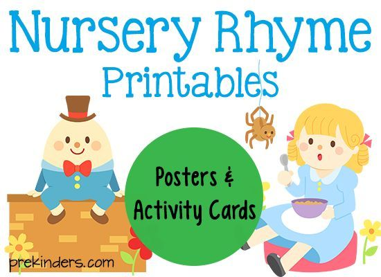 graphic regarding Printable Nursery Rhyme called Nursery Rhyme Printables Free of charge Printables For Small children