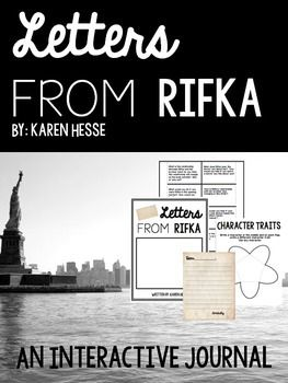 Letters to Rifka Interactive Journal Includes Front Cover Template