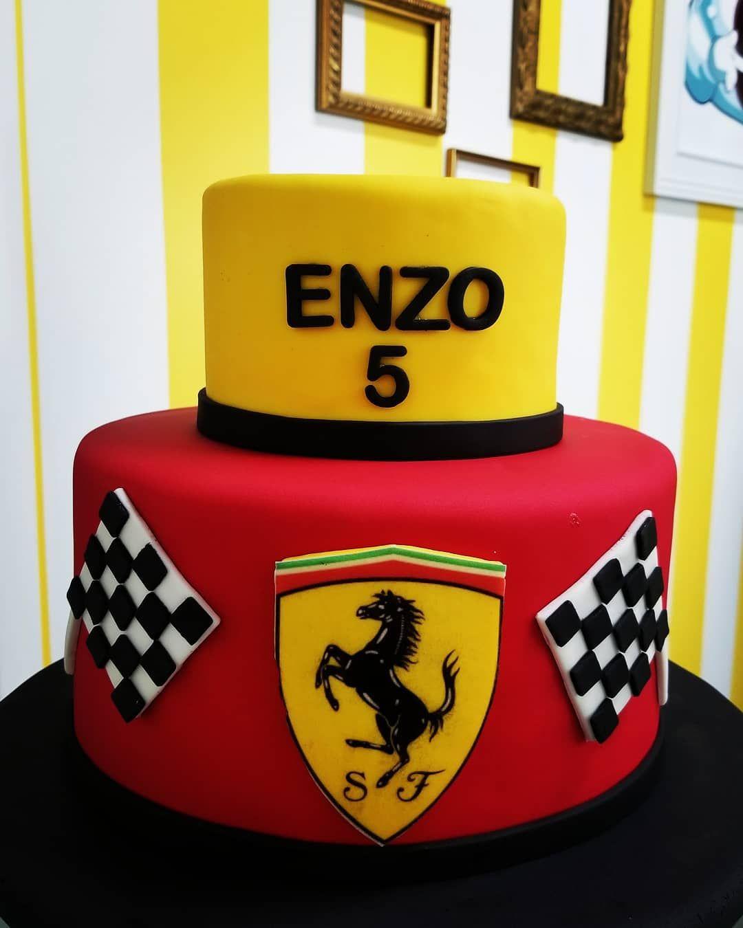Ferrari Theme Birthday Cake Cute Car Fan Ferrari Kids Celebration
