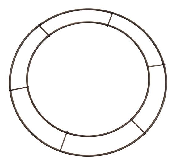 12 Inch Wreath Form Double Rail Wreath Form Can Be Used For Double Faced Wreaths With Images Frame Wreath Wreath Forms Christmas Wreath Forms