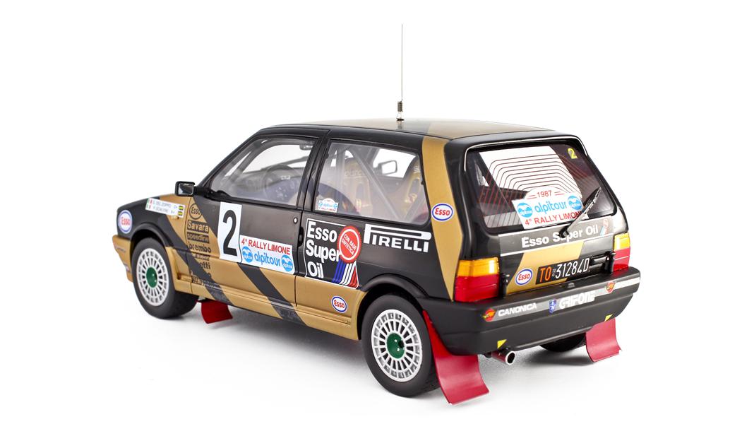 FIAT UNO TURBO ESSO Rallye Limon 1987 Del Zoppo 1:18 laudo Racing