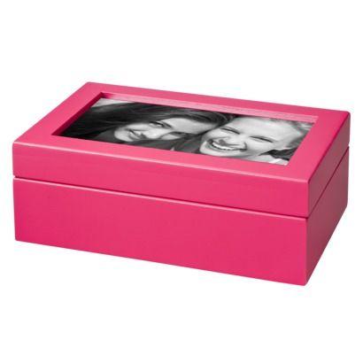 Xhilaration Jewelry Box with Photo Frame Pink 8 H x 1175 W