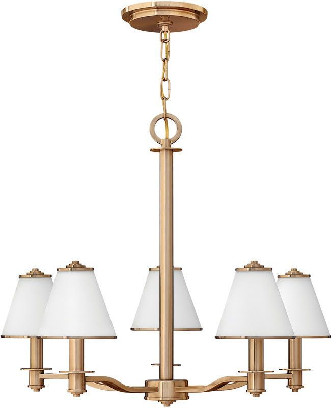 "0-011046>25""""w Coco 5-Light Chandelier Brushed Cashmere"