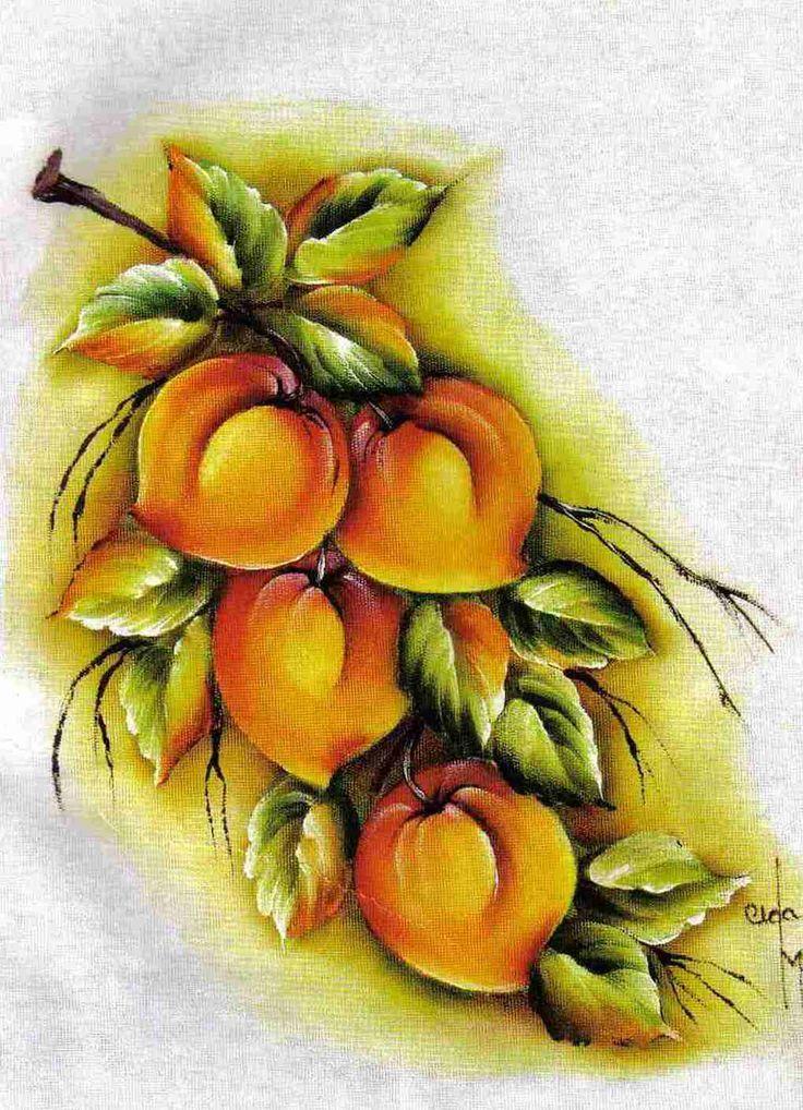 3a4755103 pintura em tecido pêssegos - Pesquisa Google