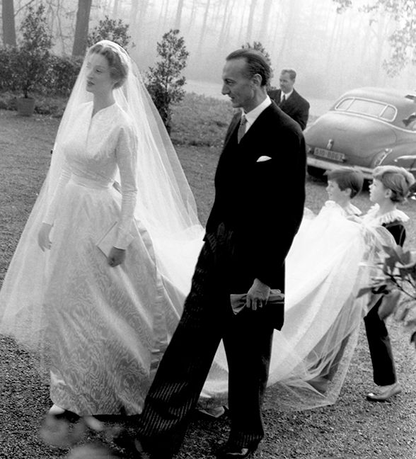 donna marella caracciolo di castagneto in balenciaga at her wedding ...