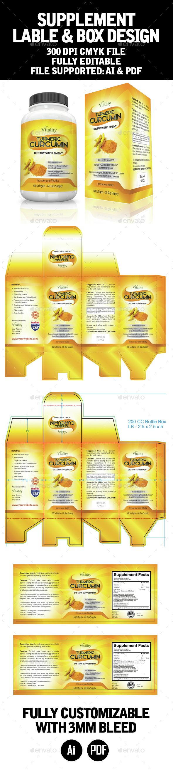 Label And Box Template  Box Templates Ai Illustrator And Template
