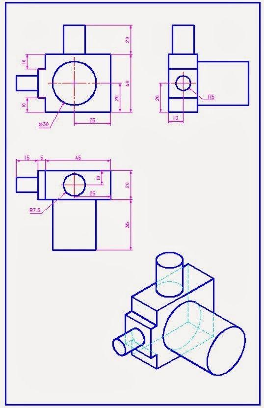 Tecnologia Vistas Dibujo Tecnico Tecnicas De Dibujo Dibujo Tecnico Ejercicios