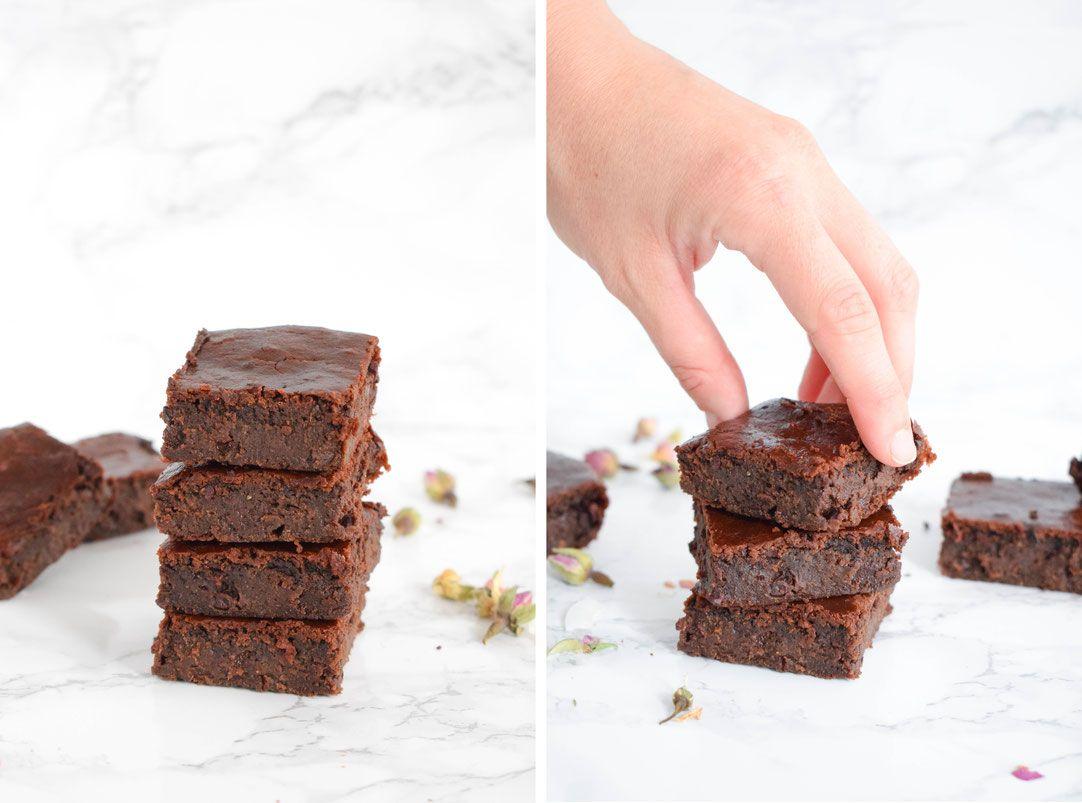 vegan courgette brownies