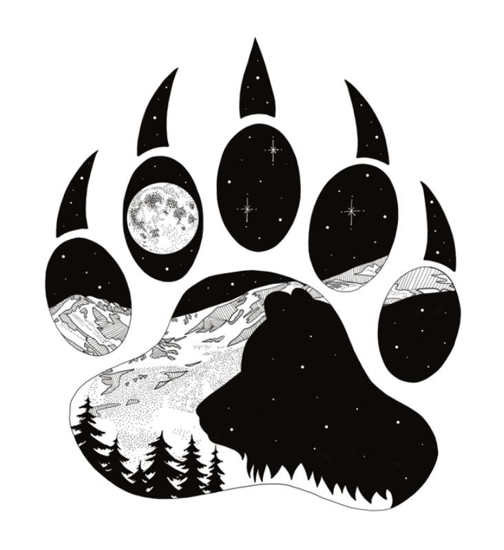 Print Mountain Recon Bear Art Bear Paw Tattoos Drawings