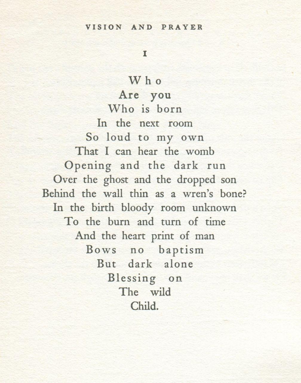 dylan thomas poems