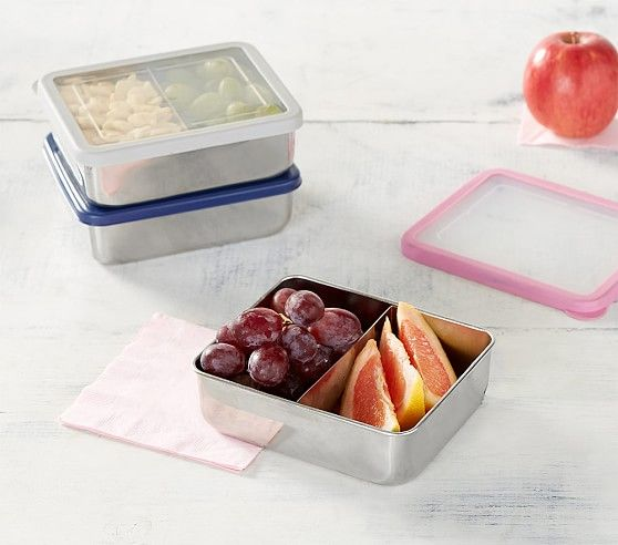 Spencer Stainless Dual Compartment Gray Food